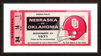 1971 Game of the Century Nebraska vs. Oklahoma Picture Frame print
