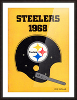 1968_National Football League_Pittsburgh Steelers_Media Guide_Row One Brand Vintage Media Guide Art Picture Frame print