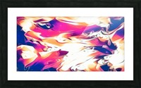Very Berry - white blue pink orange swirl abstract wall art Picture Frame print