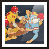 Classic Vintage Football Art  Picture Frame print