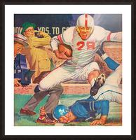 Vintage Football Art Picture Frame print