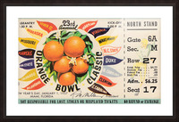 1957 Orange Bowl Ticket Canvas Picture Frame print