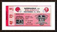 1973_College_Football_Oklahoma vs. Nebraska_Owen Field_University of Oklahoma Football Tickets Picture Frame print