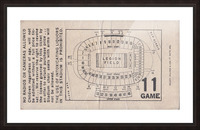 1981 Legion Field Map Picture Frame print