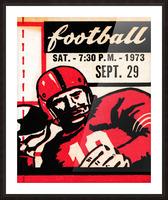 Vintage Football Art_Quarterback Artwork_Vintage Ticket Toss Picture Frame print