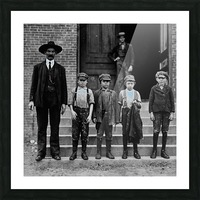 young workers around 1908 Picture Frame print