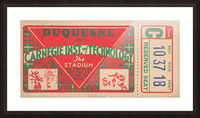 1936_College_Football_Duquesne vs. Carnegie Tech_The Stadium_Pittsburgh College Ticket Collection Picture Frame print
