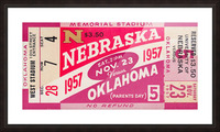 1957_College_Football_Nebraska vs. Oklahoma_Historic Memorial Stadium Lincoln_College Wall Art Picture Frame print