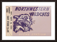 Northwestern University Wildcats College Football Wall Art Ticket Stub Picture Frame print