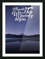Mountain Top Journey Picture Frame print