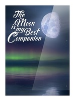 The Moon is my Best Companion Picture Frame print