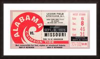 1975 College Football Ticket Collection_Alabama vs. Missouri_College Ticket Stub Art (1) Picture Frame print