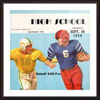 1959 High School Football Picture Frame print