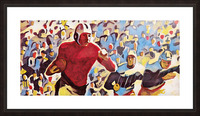 1937 Vintage Football Art Running Back Artwork Picture Frame print