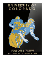 University of Colorado Football Ticket Stub Art Reproduction Picture Frame print