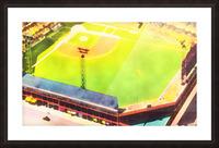 Baseball Ballpark Colorful Art Print Picture Frame print