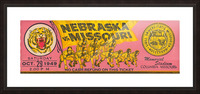 1949 College Football Ticket Stub Art_University of Missouri Football Art_Football Ticket Collection Picture Frame print