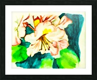 Radiant Flowers  Picture Frame print