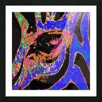 Zebra Eye Picture Frame print