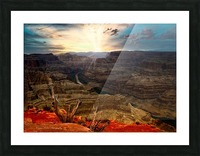 Sunrise over Grand Canyon Picture Frame print
