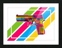 SIG P250 Handgun Picture Frame print