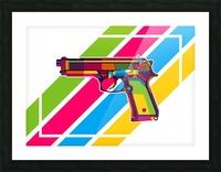 Classic Handgun Picture Frame print