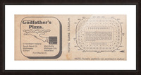 Retro Stadium Maps_Notre Dame Stadium Map_1982_South Bend Indiana Maps_Godfathers Pizza Ad_Artwork Picture Frame print