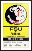 1984 FSU vs. Florida Picture Frame print