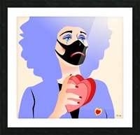 TRISTE CLOWN Picture Frame print