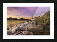Golden Gate Sunset Picture Frame print