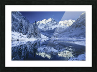 Maroon Bells Dressed in white Picture Frame print