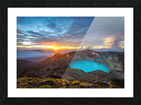 Indonesian Volcano Picture Frame print