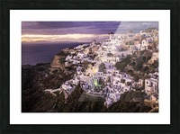 Santorini Sunset Picture Frame print