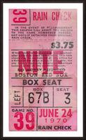 1970_Major League Baseball_Boston Red Sox Ticket Stub Art_Fenway Park Artwork_Red Sox vs. Orioles Impression et Cadre photo