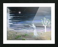 She chased the moon Picture Frame print