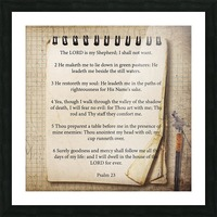 Psalm 23 Picture Frame print