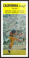 1965 College Football Photo California Bears Kickoff Punter Art Picture Frame print