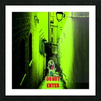 DO NOT ENTER Picture Frame print