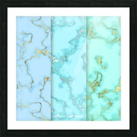 background marble set Picture Frame print