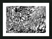 Black & White Art Threshold Light Texture Picture Frame print