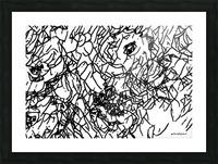 Black & White Art Transparent Picture Frame print