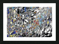 Color Art Abstract Pattern Picture Frame print