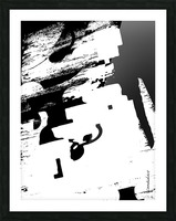 Black & White Form Texture Art D3200 1267 Picture Frame print