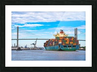 Cargo Ship on the Savannah River 04044 Picture Frame print