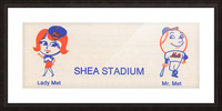 1977 new york mets art reproduction shea stadium retro baseball artwork row one brand Picture Frame print