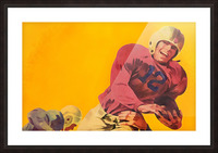 Vintage Football Artwork_Vintage Football Posters Picture Frame print