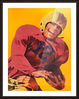 Vintage Football Poster_Football Prints Wall Art Posters Picture Frame print