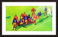 Vintage Football Art Sunny Day Gridiron Artwork Picture Frame print