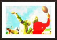 Vintage Football Print_Touchdown Catch Art Print Picture Frame print