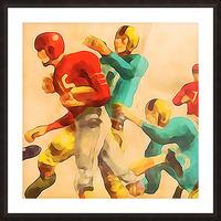 Vintage Football Jersey Art Print Picture Frame print